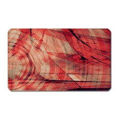 Grey And Red Magnet (Rectangular)