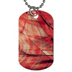 Grey And Red Dog Tag (One Sided)