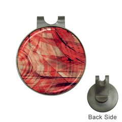 Grey And Red Hat Clip with Golf Ball Marker