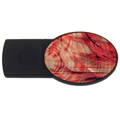 Grey And Red 4gb Usb Flash Drive (oval)