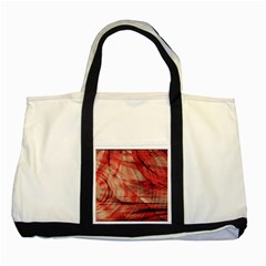Grey And Red Two Toned Tote Bag