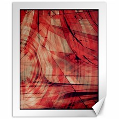Grey And Red Canvas 16  x 20  (Unframed)