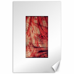 Grey And Red Canvas 24  x 36  (Unframed)