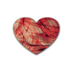 Grey And Red Drink Coasters 4 Pack (Heart)