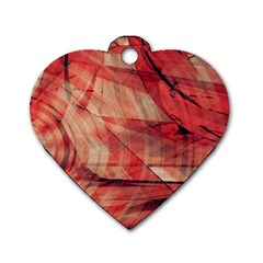 Grey And Red Dog Tag Heart (Two Sided)