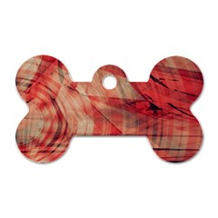 Grey And Red Dog Tag Bone (Two Sided)