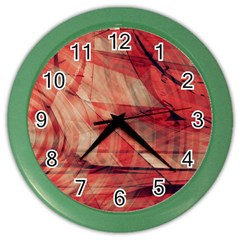 Grey And Red Wall Clock (Color)