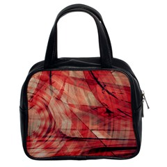 Grey And Red Classic Handbag (Two Sides)
