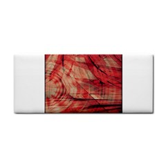 Grey And Red Hand Towel