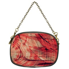Grey And Red Chain Purse (One Side)