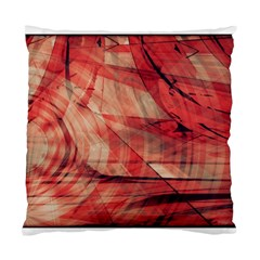 Grey And Red Cushion Case (single Sided)