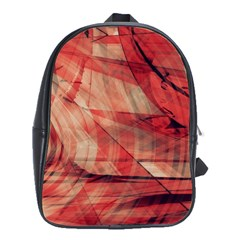 Grey And Red School Bag (Large)