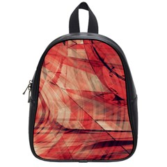 Grey And Red School Bag (Small)