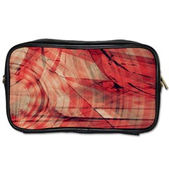 Grey And Red Travel Toiletry Bag (one Side)
