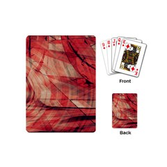 Grey And Red Playing Cards (mini)