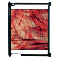 Grey And Red Apple iPad 2 Case (Black)