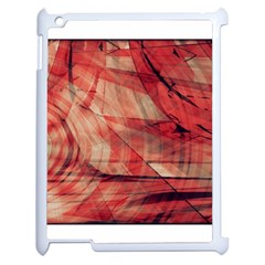 Grey And Red Apple Ipad 2 Case (white)