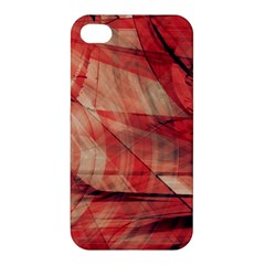 Grey And Red Apple Iphone 4/4s Hardshell Case