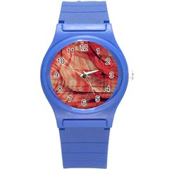 Grey And Red Plastic Sport Watch (small)