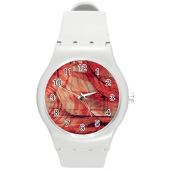 Grey And Red Plastic Sport Watch (Medium)