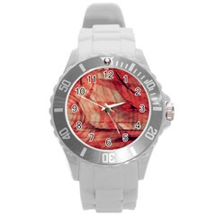 Grey And Red Plastic Sport Watch (Large)