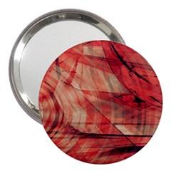 Grey And Red 3  Handbag Mirror