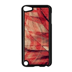 Grey And Red Apple Ipod Touch 5 Case (black)