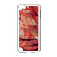 Grey And Red Apple iPod Touch 5 Case (White)