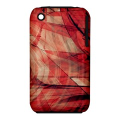 Grey And Red Apple iPhone 3G/3GS Hardshell Case (PC+Silicone)