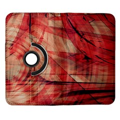 Grey And Red Samsung Galaxy Note II Flip 360 Case