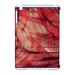 Grey And Red Apple iPad Mini Hardshell Case (Compatible with Smart Cover)