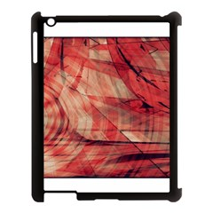 Grey And Red Apple Ipad 3/4 Case (black)
