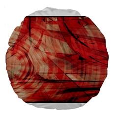 Grey And Red 18  Premium Round Cushion