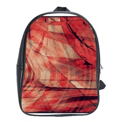 Grey And Red School Bag (xl)