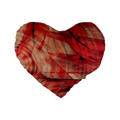 Grey And Red 16  Premium Heart Shape Cushion