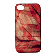 Grey And Red Apple iPhone 4/4S Hardshell Case with Stand