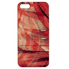 Grey And Red Apple iPhone 5 Hardshell Case with Stand
