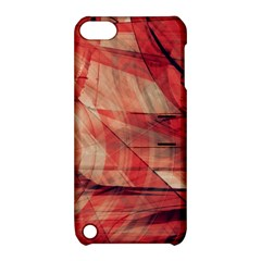 Grey And Red Apple Ipod Touch 5 Hardshell Case With Stand