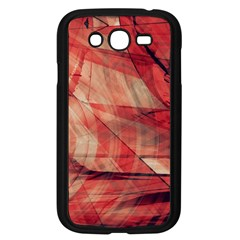 Grey And Red Samsung Galaxy Grand DUOS I9082 Case (Black)