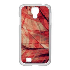 Grey And Red Samsung Galaxy S4 I9500/ I9505 Case (white)