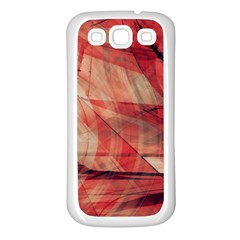 Grey And Red Samsung Galaxy S3 Back Case (White)