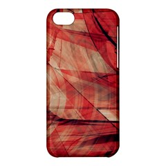 Grey And Red Apple iPhone 5C Hardshell Case
