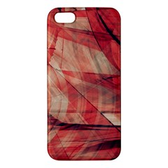 Grey And Red iPhone 5S Premium Hardshell Case