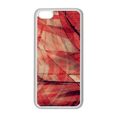 Grey And Red Apple iPhone 5C Seamless Case (White)