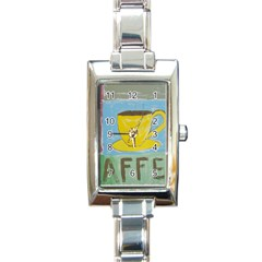 Kaffe Painting Rectangular Italian Charm Watch