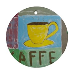 Kaffe Painting Round Ornament