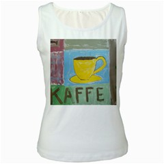 Kaffe Painting Women s Tank Top (White)