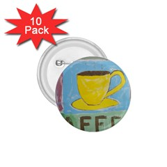 Kaffe Painting 1.75  Button (10 pack)