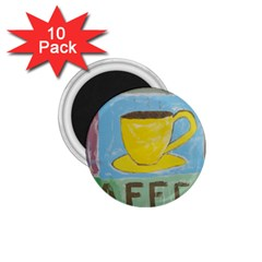 Kaffe Painting 1.75  Button Magnet (10 pack)