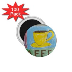 Kaffe Painting 1.75  Button Magnet (100 pack)
